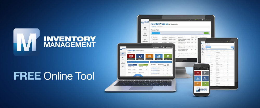 Free Inventory Management Tool from Mouser Electronics Simplifies Parts Management and Ordering