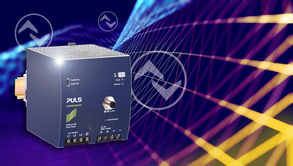 PULS DIN-Rail Power Supply with IO-Link port is Industry 4.0 Ready