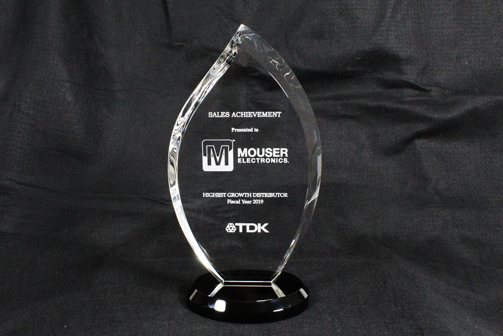 Mouser Electronics Receives Top Sales Growth Award from TDK